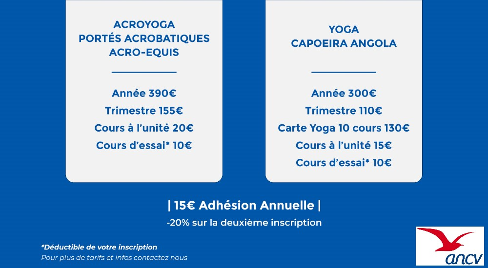 tarifs cours de yoga, acroyoga, accroyoga à toulouse